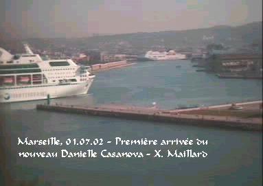 Le nouveau DANIELLE CASANOVA arrive d'Ancône : première arrivée à Marseille (Photo Xavier Maillard)